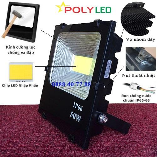 pha-led-co-nut-thoat-nhiet đèn Led Pha 100W COB